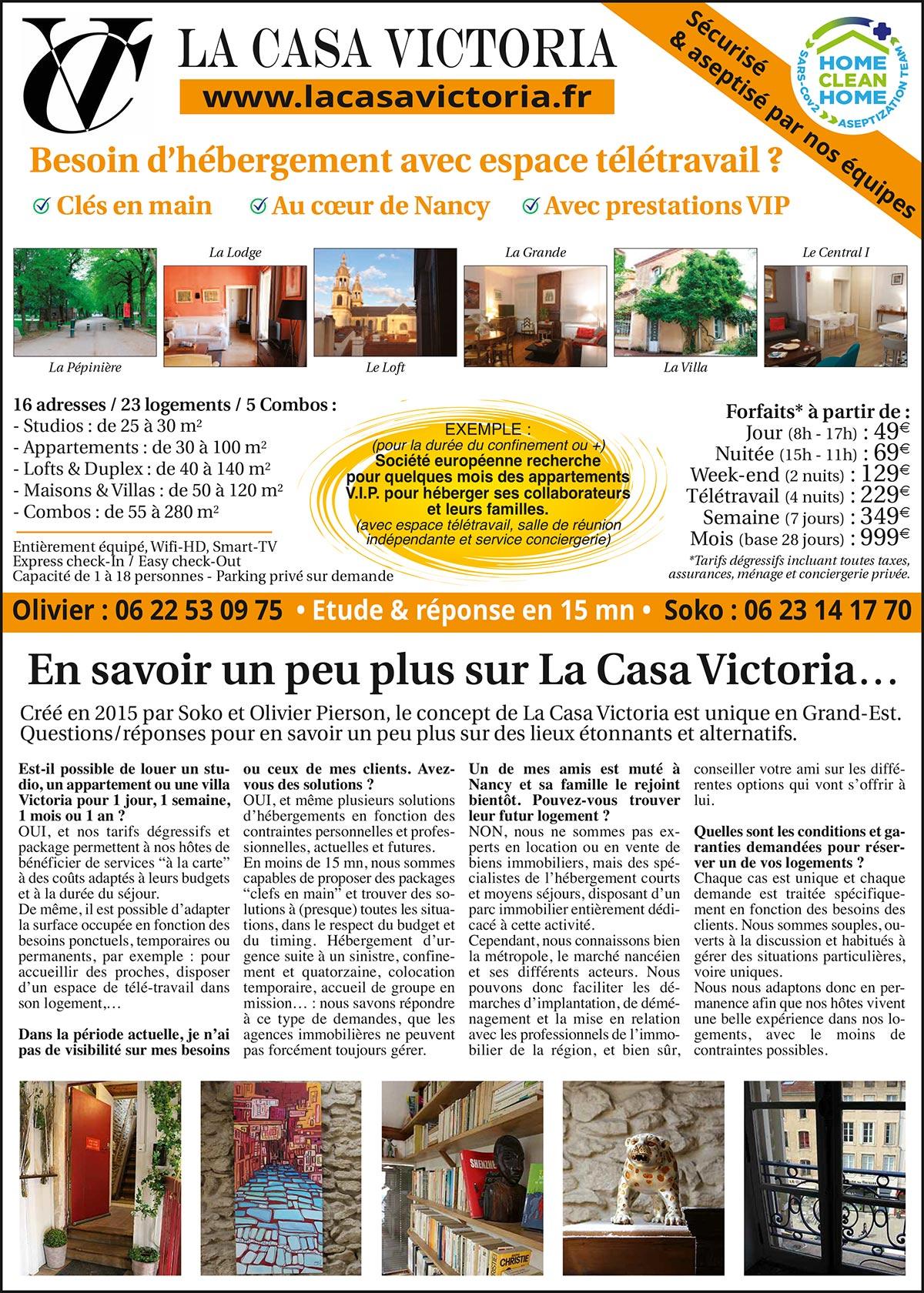 La Casa Victoria - Nancy - Location appartement courte et moyenne durée